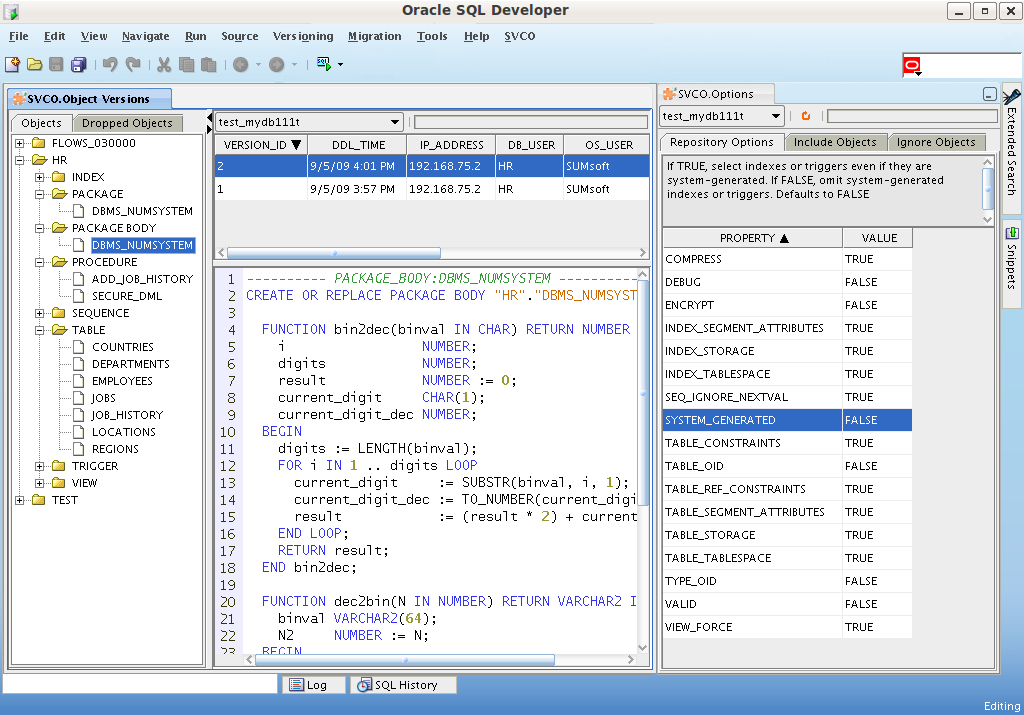 Svco Extension For Oracle Sql Developer Sumsoft Solutions